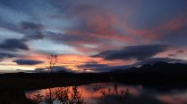 sunset aan Tangle lakes
