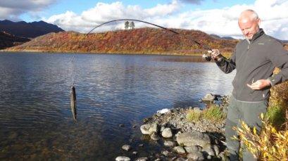 woehaa, een vis gevangen