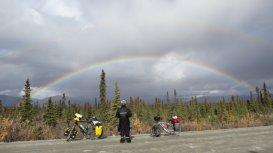 regenboog op de Denali Highway