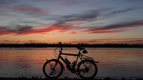 Sunset langs de Talkeetna