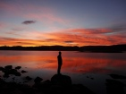spectaculaire zonsondergang aan de Westfjorden