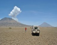 op weg naar de vulkaan