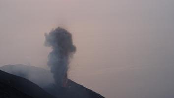 lava wordt zichtbaar